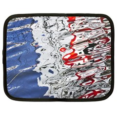 Water Reflection Abstract Blue Netbook Case (XXL)