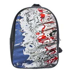 Water Reflection Abstract Blue School Bags(Large)
