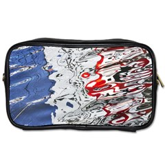 Water Reflection Abstract Blue Toiletries Bags