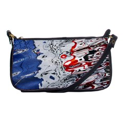 Water Reflection Abstract Blue Shoulder Clutch Bags