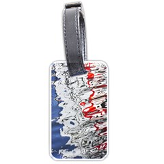 Water Reflection Abstract Blue Luggage Tags (one Side)