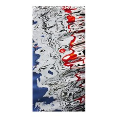 Water Reflection Abstract Blue Shower Curtain 36  x 72  (Stall)