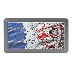 Water Reflection Abstract Blue Memory Card Reader (Mini)