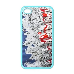 Water Reflection Abstract Blue Apple iPhone 4 Case (Color)