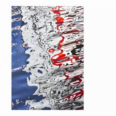 Water Reflection Abstract Blue Small Garden Flag (Two Sides)