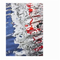 Water Reflection Abstract Blue Large Garden Flag (two Sides)
