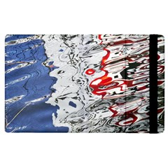 Water Reflection Abstract Blue Apple iPad 2 Flip Case