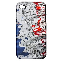 Water Reflection Abstract Blue Apple Iphone 4/4s Hardshell Case (pc+silicone)