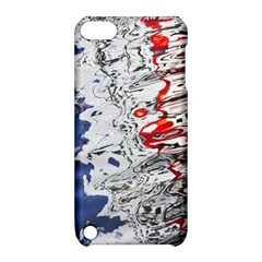 Water Reflection Abstract Blue Apple iPod Touch 5 Hardshell Case with Stand