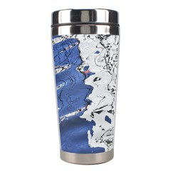 Water Reflection Abstract Blue Stainless Steel Travel Tumblers
