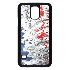 Water Reflection Abstract Blue Samsung Galaxy S5 Case (black)