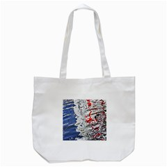 Water Reflection Abstract Blue Tote Bag (white)