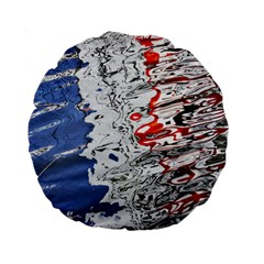 Water Reflection Abstract Blue Standard 15  Premium Flano Round Cushions