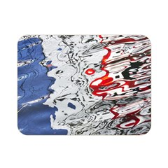 Water Reflection Abstract Blue Double Sided Flano Blanket (Mini)
