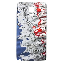 Water Reflection Abstract Blue Galaxy Note 4 Back Case