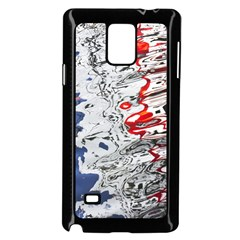 Water Reflection Abstract Blue Samsung Galaxy Note 4 Case (Black)