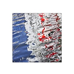 Water Reflection Abstract Blue Satin Bandana Scarf
