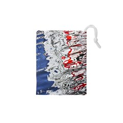 Water Reflection Abstract Blue Drawstring Pouches (XS)