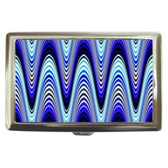 Waves Wavy Blue Pale Cobalt Navy Cigarette Money Cases
