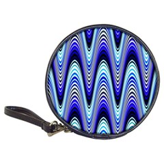 Waves Wavy Blue Pale Cobalt Navy Classic 20 Cd Wallets