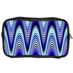 Waves Wavy Blue Pale Cobalt Navy Toiletries Bags