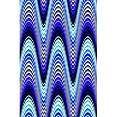 Waves Wavy Blue Pale Cobalt Navy 5.5  x 8.5  Notebooks