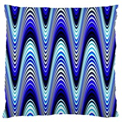 Waves Wavy Blue Pale Cobalt Navy Large Cushion Case (One Side)