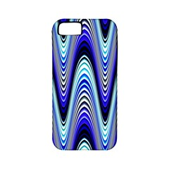 Waves Wavy Blue Pale Cobalt Navy Apple iPhone 5 Classic Hardshell Case (PC+Silicone)