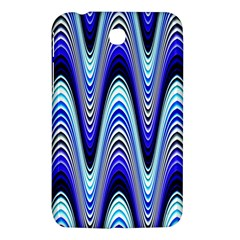 Waves Wavy Blue Pale Cobalt Navy Samsung Galaxy Tab 3 (7 ) P3200 Hardshell Case