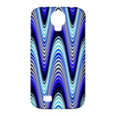 Waves Wavy Blue Pale Cobalt Navy Samsung Galaxy S4 Classic Hardshell Case (pc+silicone)