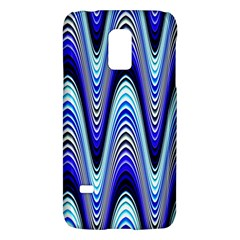 Waves Wavy Blue Pale Cobalt Navy Galaxy S5 Mini