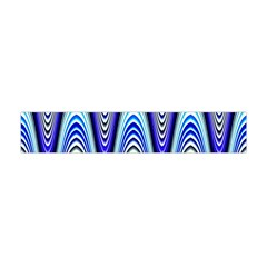 Waves Wavy Blue Pale Cobalt Navy Flano Scarf (Mini)
