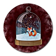 Winter Snow Ball Snow Cold Fun Round Mousepads