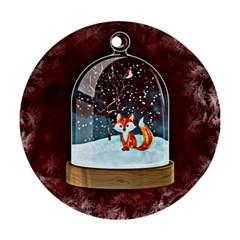 Winter Snow Ball Snow Cold Fun Ornament (Round)