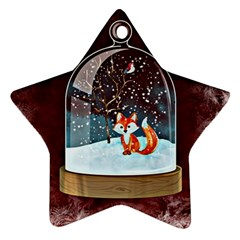 Winter Snow Ball Snow Cold Fun Ornament (Star)