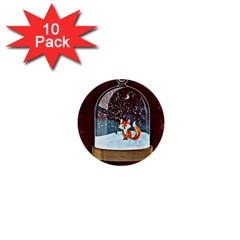 Winter Snow Ball Snow Cold Fun 1  Mini Buttons (10 pack)