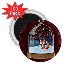 Winter Snow Ball Snow Cold Fun 2.25  Magnets (100 pack)