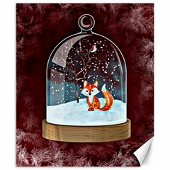 Winter Snow Ball Snow Cold Fun Canvas 8  x 10