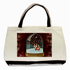 Winter Snow Ball Snow Cold Fun Basic Tote Bag (two Sides)