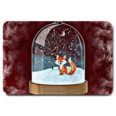 Winter Snow Ball Snow Cold Fun Large Doormat