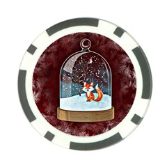 Winter Snow Ball Snow Cold Fun Poker Chip Card Guard