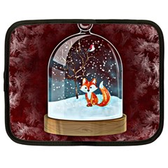 Winter Snow Ball Snow Cold Fun Netbook Case (XL)