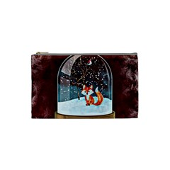 Winter Snow Ball Snow Cold Fun Cosmetic Bag (Small)