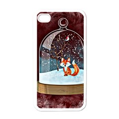 Winter Snow Ball Snow Cold Fun Apple Iphone 4 Case (white)