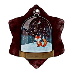 Winter Snow Ball Snow Cold Fun Snowflake Ornament (Two Sides)