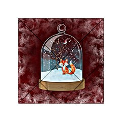 Winter Snow Ball Snow Cold Fun Acrylic Tangram Puzzle (4  x 4 )