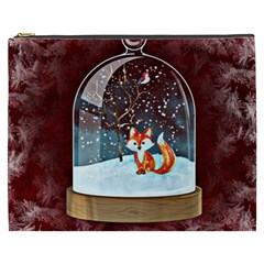 Winter Snow Ball Snow Cold Fun Cosmetic Bag (XXXL)