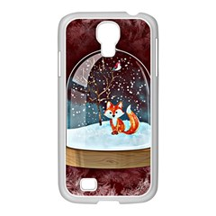 Winter Snow Ball Snow Cold Fun Samsung Galaxy S4 I9500/ I9505 Case (white)