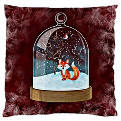 Winter Snow Ball Snow Cold Fun Large Flano Cushion Case (two Sides)