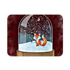 Winter Snow Ball Snow Cold Fun Double Sided Flano Blanket (mini)